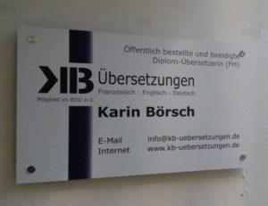 Kb Tuerschild
